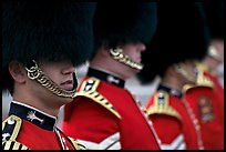 Close up of guards in ceremonial dress. London, England, United Kingdom ( color)