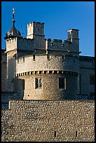 Turrets, outside wall, Tower of London. London, England, United Kingdom ( color)