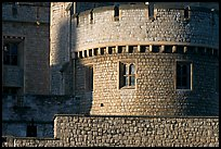 Detail of turret and wall, Tower of London. London, England, United Kingdom