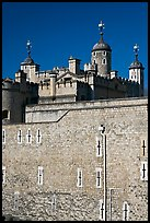 Outer rampart and White Tower, Tower of London. London, England, United Kingdom ( color)