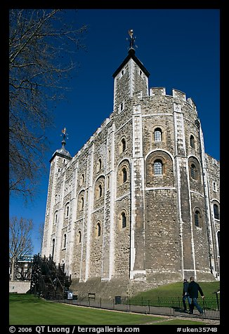White Tower, inside the Tower of London. London, England, United Kingdom