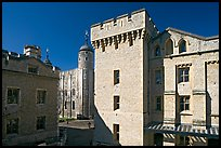 Salt Tower, central courtyard, and White Tower, the Tower of London. London, England, United Kingdom ( color)