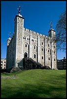 White Tower and lawn, the Tower of London. London, England, United Kingdom