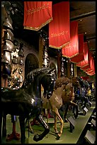 Armors and Models of royal horses,  the White House, Tower of London. London, England, United Kingdom ( color)