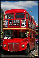 Routemaster double decker bus. London, England, United Kingdom (color)