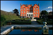 Kew Palace and basin. Kew Royal Botanical Gardens,  London, England, United Kingdom (color)