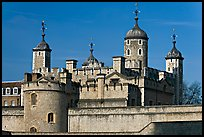Turrets and White House, Tower of London. London, England, United Kingdom ( color)