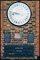 Shepherd 24-hour gate clock, and public standard of length, Royal Observatory. Greenwich, London, England, United Kingdom (color)