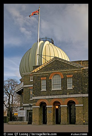 Royal Greenwich Observatory, late afternoon. Greenwich, London, England, United Kingdom
