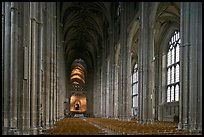Nave, built in the Perpendicular style, Canterbury Cathedral. Canterbury,  Kent, England, United Kingdom ( color)