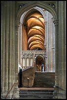 Aisle, Canterbury Cathedral. Canterbury,  Kent, England, United Kingdom ( color)