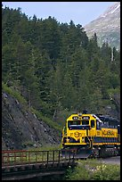 Locomotive and forest. Whittier, Alaska, USA ( color)
