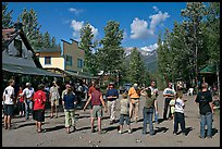 Egg throwing contest on main street. McCarthy, Alaska, USA ( color)