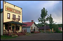 Ma Johnson  hotel at sunset. McCarthy, Alaska, USA ( color)
