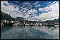 Harbor and reflections. Seward, Alaska, USA ( color)