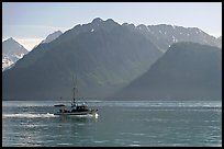 Fishing boat in Resurection Bay. Seward, Alaska, USA ( color)