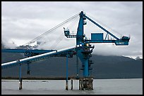 Coal unloading installation. Seward, Alaska, USA