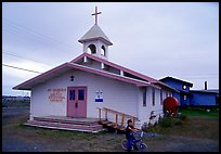 Church Saint George in the Arctic. Kotzebue, North Western Alaska, USA ( color)