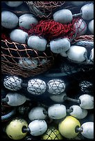 Buoys and fishing nets. Seward, Alaska, USA ( color)