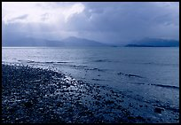 Katchemak Bay from the Spit, Kenai Mountains in the backgound. Homer, Alaska, USA ( color)