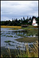 Lighthouse at low tide. Homer, Alaska, USA