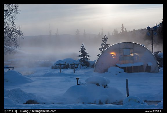 Greenhouse and steam. Chena Hot Springs, Alaska, USA