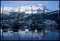 Whittier harbor. Whittier, Alaska, USA (color)