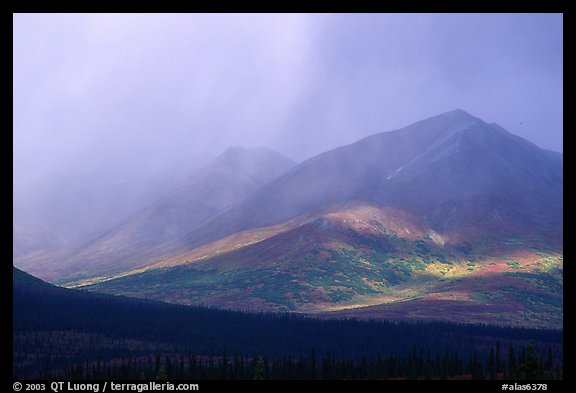 Storm on mountains. Alaska, USA (color)