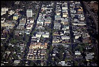 Aerial view of downtown. Palo Alto,  California, USA (color)