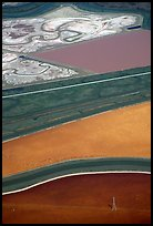 Aerial view of marsh patches. Redwood City,  California, USA ( color)