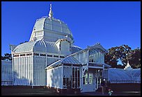 Conservatory of the Flowers, late afternoon. San Francisco, California, USA (color)