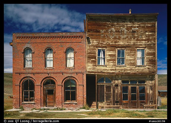 Saloon and Gymnasium, Ghost Town, Bodie State Park. California, USA (color)