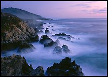 Rocky coastline, Garapata. Big Sur, California, USA (color)