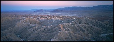 Desert landscape with badlands. Anza Borrego Desert State Park, California, USA (Panoramic color)
