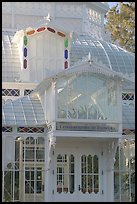 Conservatory of the Flowers, Golden Gate Park. San Francisco, California, USA (color)