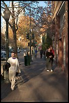 University avenue, the main street. Palo Alto,  California, USA ( color)