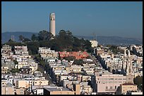 Coit Tower on Telegraph Hill, afternoon. San Francisco, California, USA (color)