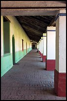 Corridor, Mission San Miguel Arcangel. California, USA ( color)