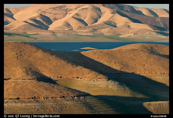 Hills in summer and San Luis Reservoir. California, USA