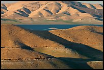 Hills in summer and San Luis Reservoir. California, USA ( color)
