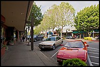 Ferarri on Santa Cruz avenue. Menlo Park,  California, USA (color)