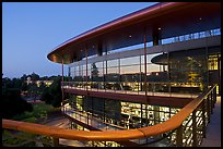 James Clark Center, dusk. Stanford University, California, USA (color)