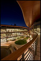 Newly constructed James Clark Center for research in biology, night. Stanford University, California, USA (color)
