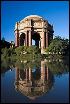 Rotonda of the Palace of Fine Arts, morning. San Francisco, California, USA ( color)