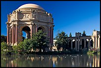 Rotunda and colonades, Palace of Fine Arts, morning. San Francisco, California, USA (color)