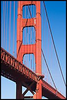 Golden Gate Bridge pillar. San Francisco, California, USA ( color)