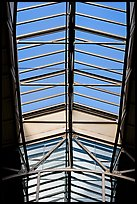 Glass roof of the Ferry building. San Francisco, California, USA