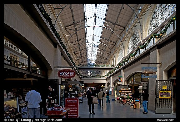 Marketplace in the Ferry building. San Francisco, California, USA