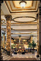 Opulent lobby of the Fairmont Hotel. San Francisco, California, USA ( color)