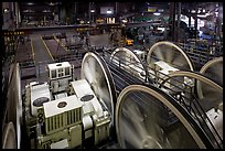 Cable Car powerhouse with cable winding machines. San Francisco, California, USA ( color)